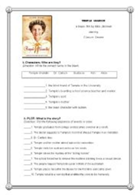 Temple Grandin Worksheet worksheets temple grandin post activity