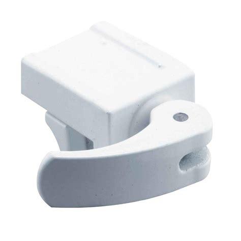 prime line white vinyl window security lock u 9809 the