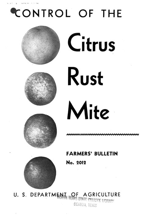 Control of the citrus rust mite. - Digital Library