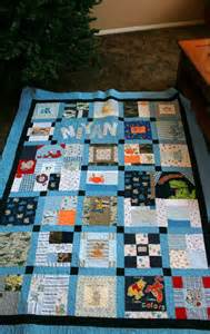 Items similar to memory quilt made from baby clothes twin size on etsy