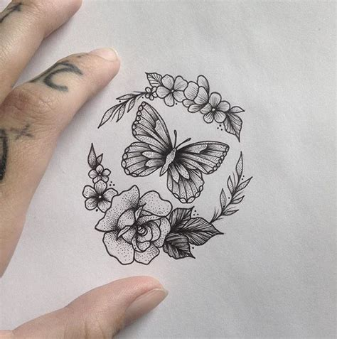 rose and butterfly tattoo designs flower images designs