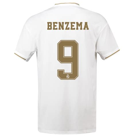 benzema  real madrid home jersey  adidas dw