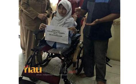 Kursi Roda Pekanbaru bulan ingin bagi bagikan kursi rodanya ke anak yang
