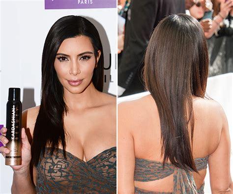 kim k hairdryer kim kardashian s hair in paris sleek straight blowout
