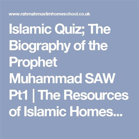 biography of muhammad saw pdf the 25 best prophet muhammad biography ideas on pinterest