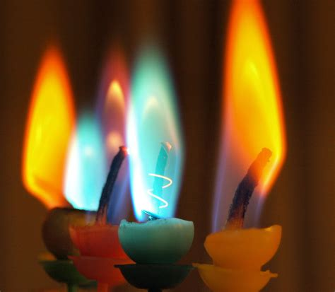 candele color colored candle flames