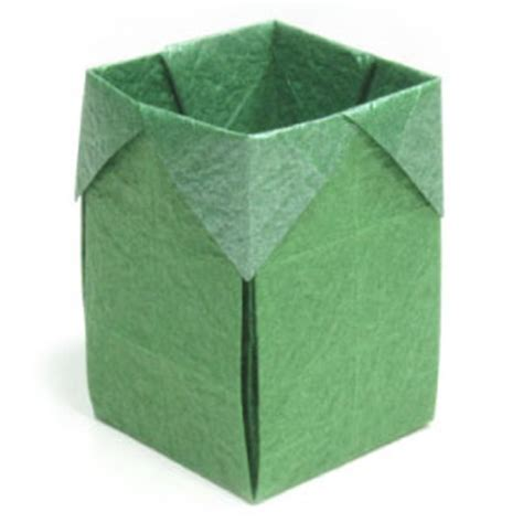 Origami Small Box - how to make a trash origami box page 1