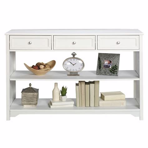 home decorators console table home decorators collection oxford white storage console
