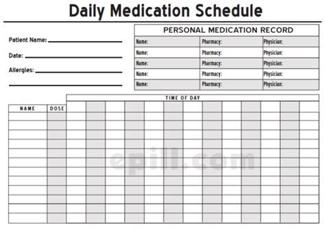 6 Medication Intake Schedule Templates Word Templates Medication Record Template