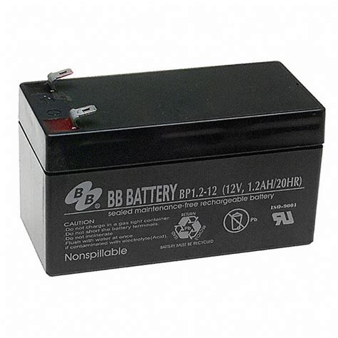 Baterai 12v 1 2ah bp1 2 12 t1 b b battery battery products digikey