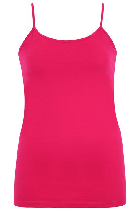 Vest Top by Magenta Jersey Vest Top With Inner Bust Support Panel Plus