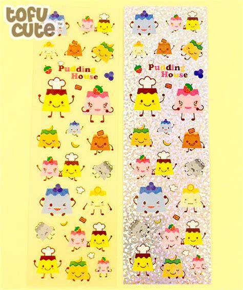 buy kawaii pudding house sticker pack of 2 at tofu