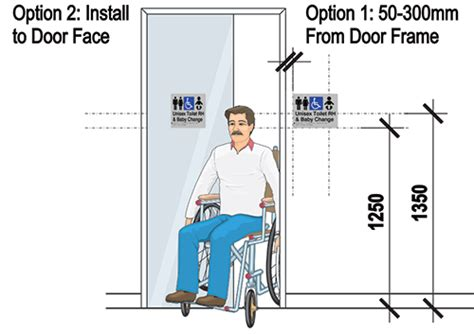 Ada Bench Requirements How To Install Braille And Tactile Signs Installation Height