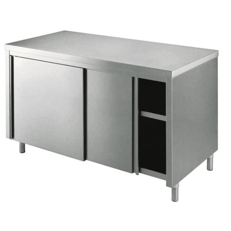 tavolo armadiato inox tavolo armadiato in acciao inox 160 70 l arredo societa