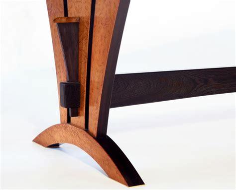 Beautiful Dining Room Tables Birdseye Trestle Table Andrew J Wainwright Fine Woodwork