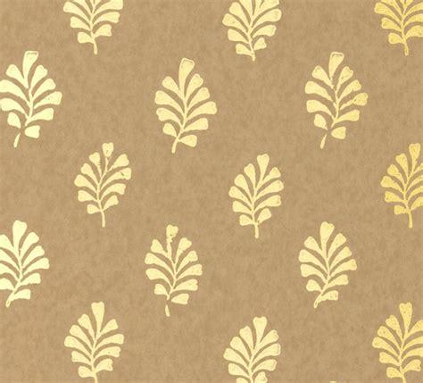 Metallic Gold Leaf Wallpaper   Modern   Wallpaper   by Furbish