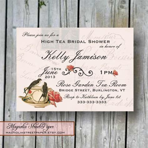 diy shabby chic wedding invitations diy shabby chic bridal shower invitations wedding