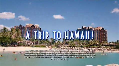 Disney Aulani Sweepstakes - disney aulani tv commercial wheel of fortune sea shore week sweepstakes ispot tv