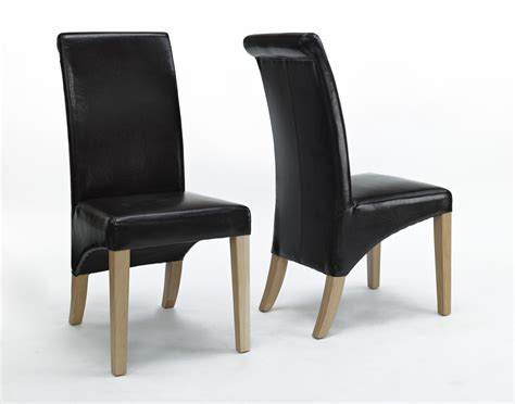 Dining Room Chairs Leather Compton Solid Oak Furniture Set Of Eight Leather Dining Room Chairs Ebay