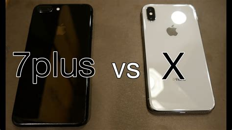 comparing apple iphone x vs iphone 7 plus