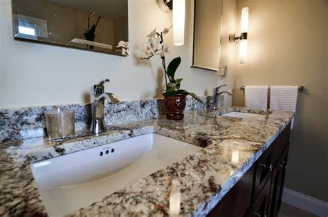 Black And White Granite Countertops Black And White Granite Countertop With Chrome Fixtures