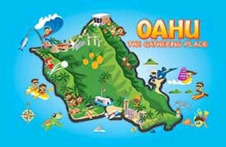 Kitchen Island Sale by Oahu Fun Map Playing Cards The Islander Group