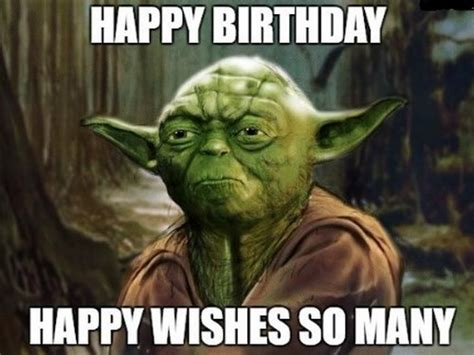 Star Wars Birthday Meme - yoda happy birthday www pixshark com images galleries