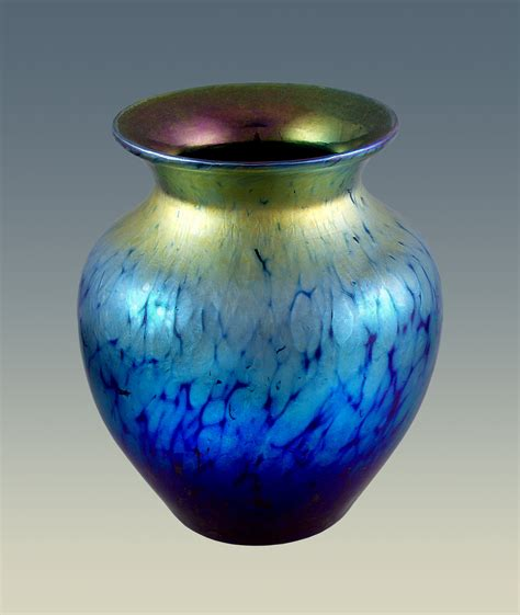 Blue Vases by Blue Iridescent Cabinet Vase