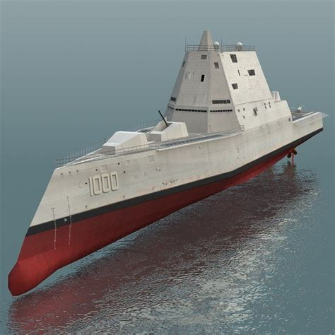 Plywood Design by 1 96 75 Quot Ddg 1000 Uss Zumwalt Guided Missile Destroyer