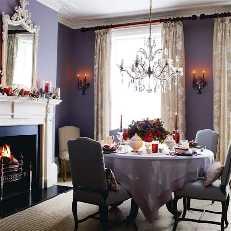 european purple dining room new home scenery
