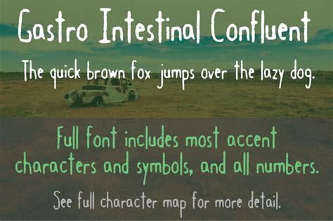 dafont license gastro intestinal confluent font dafont com