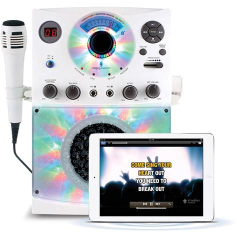 karaoke with disco lights karaoke singing machine teens kids disco lights microphone