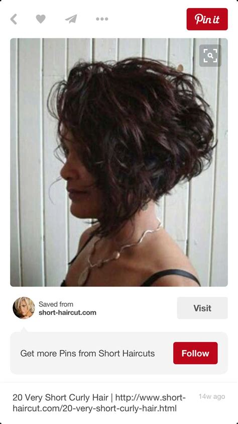 bob hairstyles that can still go in a ponytail curly stacked bob pinteres