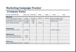 marketing campaign tracker template ms excel excel templates