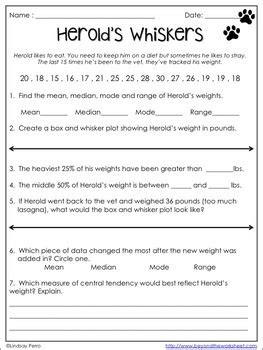 Box And Whisker Plot Worksheet Pdf by Box And Whisker Plots Practice Worksheet By Lindsay Perro