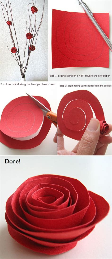 How To Make Paper Roses With Construction Paper - top 7 s day craft ideas will inspire you