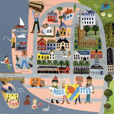 'map of small town' by jens magnusson illustration from