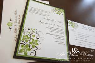 green wedding invitations brown and green wedding invitation a vibrant wedding