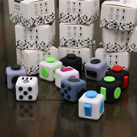 fidget cube children vinyl desk adults stress relief