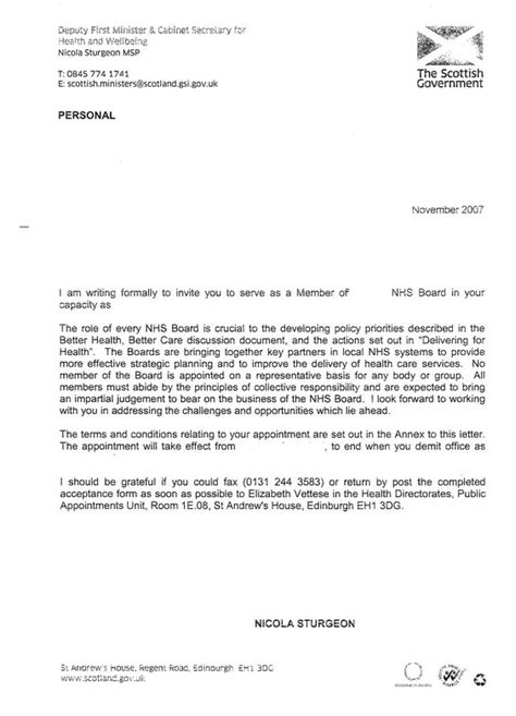 appointment letter format for recruitment sle appointment letter for position testimony