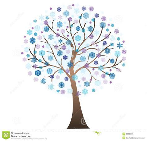 winter tree snowflakes stock vector vector winter tree stock illustration illustration of decoration 34496985