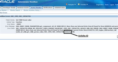 oracle workflow tables oracle ebs etc how to identify the activity id for a