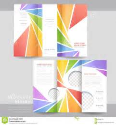Tri Fold Brochure Template Design by Colorful Tri Fold Brochure Template Design Stock Vector