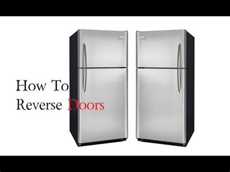 how to change refrigerator door swing how to reverse fridge doors frigidaire refrigerator youtube