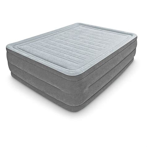 intex comfort plush intex 174 queen comfort plush high rise airbed 581512 air