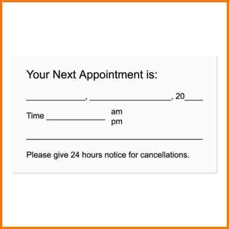 Appointment Cards Templates Free by Invitations Printable Free