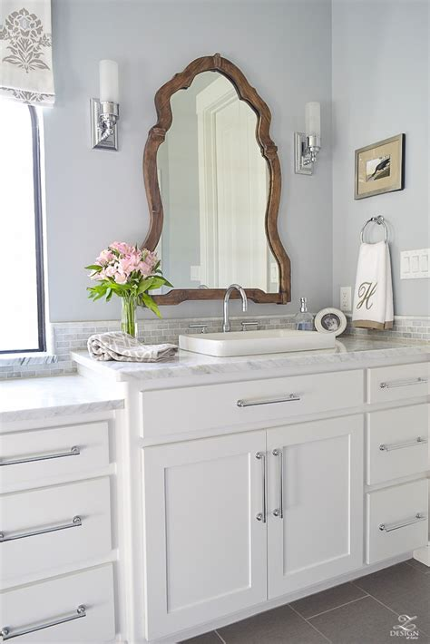 silver bathroom vanity white marble master bathroom a transitional master bathroom tour zdesign at home