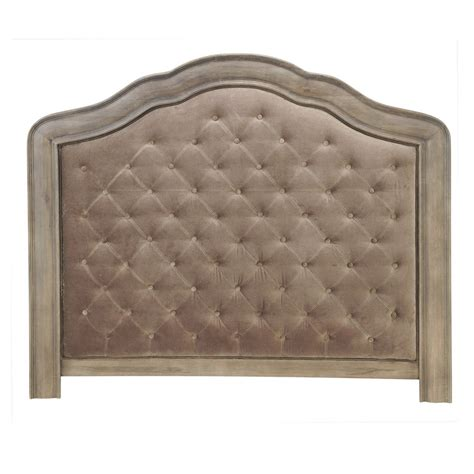 Velvet Buttoned Headboard by Velvet Button Headboard In Taupe W 140cm Domitille