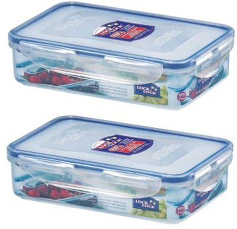 rectangular food storage containers 2 x lock and lock rectangular plastic food storage