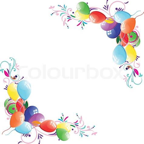 Happy Birthday Corner Design | floral balloon light holiday party background design